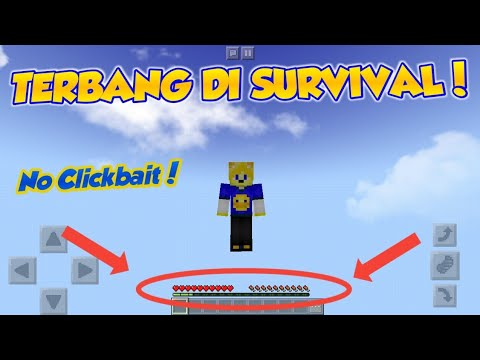 TUTORIAL CARA TERBANG DI SURVIVAL MCPE V1.5.0 - No Clickbait!!!