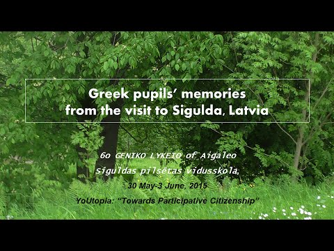 Greece Students Memories Of The Visit In Sigulda Latvia