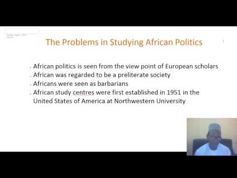 POS 102 TOPIC ONE PRE COLONIAL AFRICA AND POLITICS