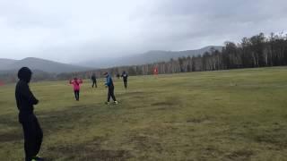 Лапта в Бурятии играем в дождь!!! Погода +4