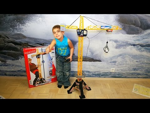 Dickie Toys Mega Crane. Огромный мега подъемный строительный кран.
