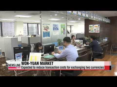Won-yuan direct trading market opens   원-위안화 직거래 시장 개장