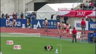 日本陸上競技選手権2018 女子200m予選3組 奥村ユリ 検索動画 18