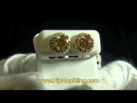 Bling Bling 10.00ct Lab Diamond Solitaire Earrings All Colors Available