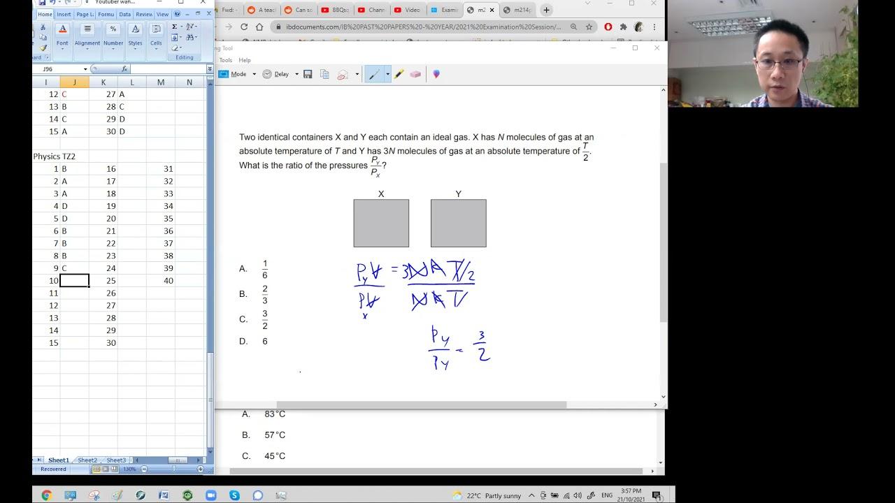 Download M21 IB Physics Paper 1 TZ2 attempt / analysis