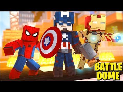 Minecraft Avengers Battledome w/ SkyDoesMinecraft - Minecraft Modded Minigame