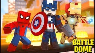 Minecraft Avengers Battledome w/ SkyDoesMinecraft - Minecraft Modded Minigame | JeromeASF