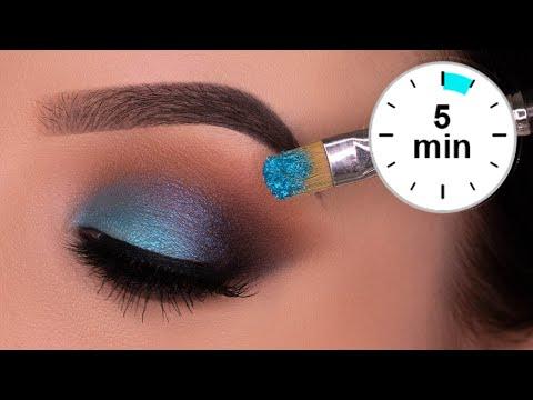 5 MINUTE Blue Brown Smokey Eyes Tutorial