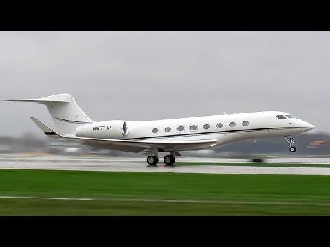 Private Gulfstream G650ER (GLF6) landing & departing Montreal (YUL/CYUL)