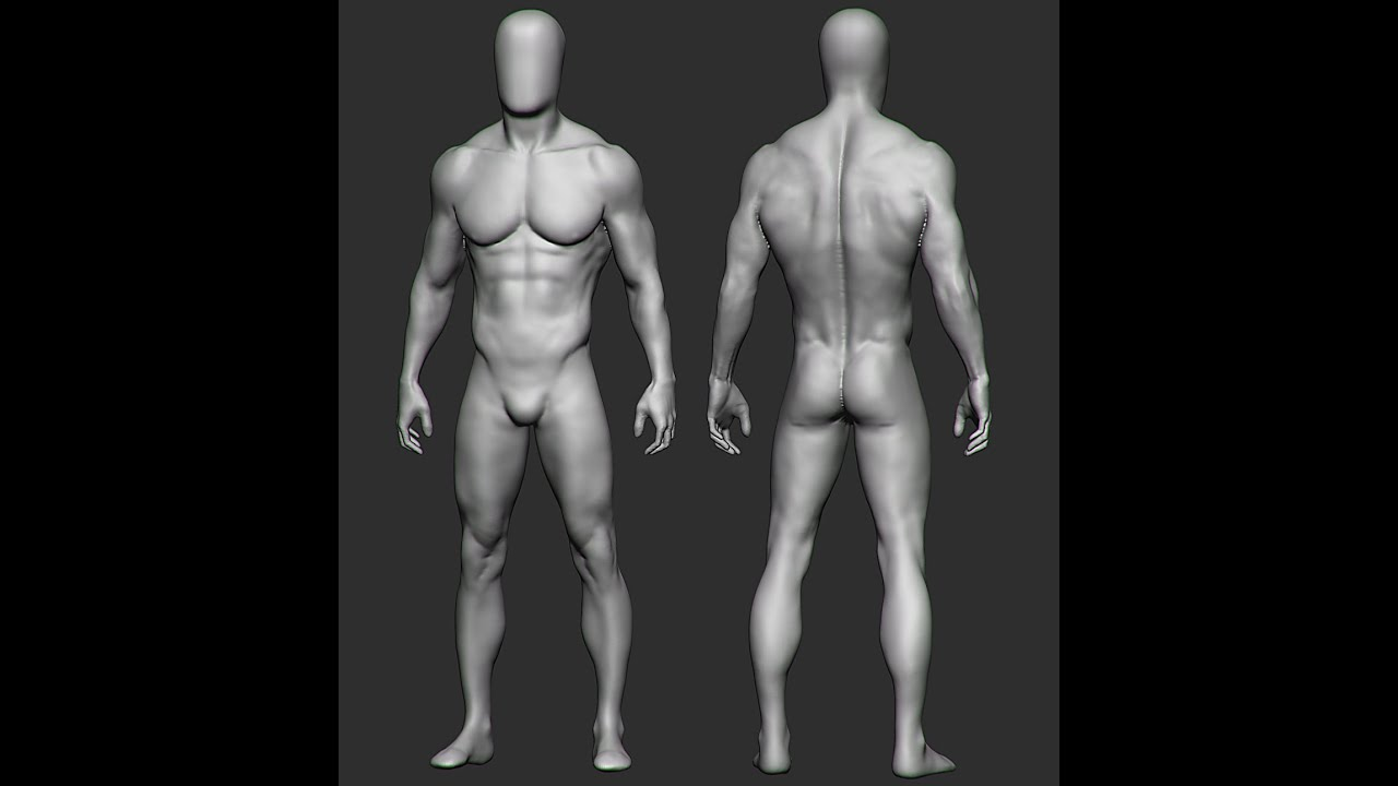 ZBRUSH ANATOMY SCULPTING (2hrs 20mins) - YouTube