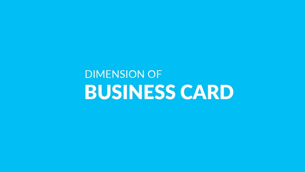 How To Take Dimension Of Business Card In Photoshop Youtube