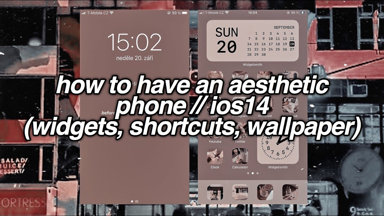 How To Have An Aesthetic Phone Ios14 Widgets Shortcuts Wallpaper Youtube