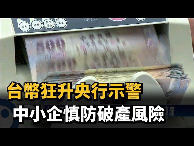 台幣狂升央行示警  中小企慎防破產風險-民視台語新聞