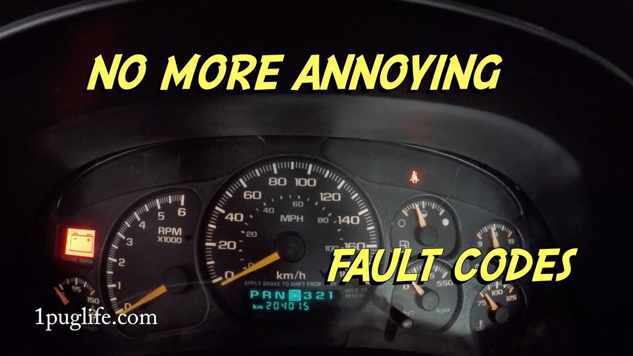air bag fault code fix gmc/chevy trucks
