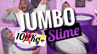BIKIN 10KG SLIME?! SLIME TERBERAT?? | JUMBO SLIME TUTORIAL BHS INDONESIA