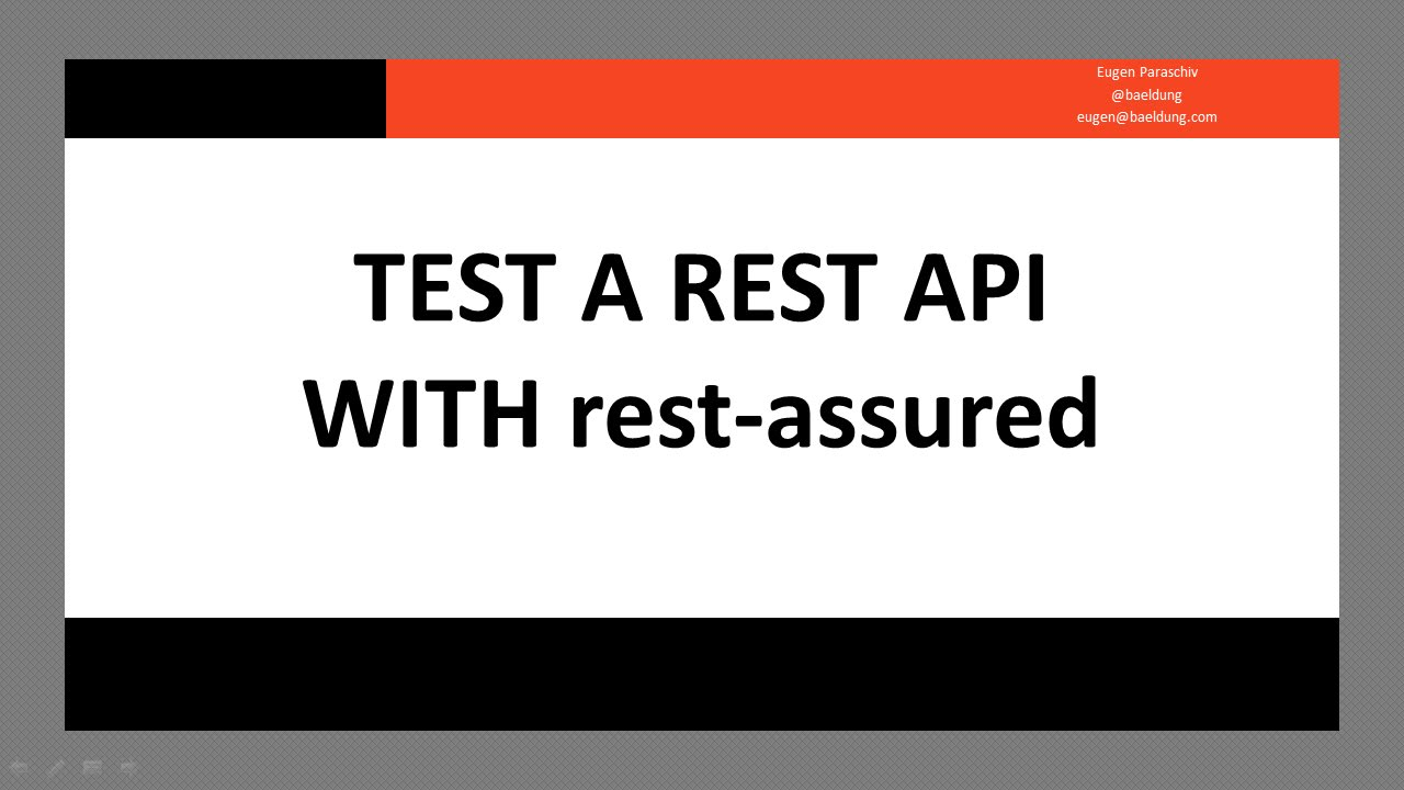 Test a REST API with Java | Baeldung