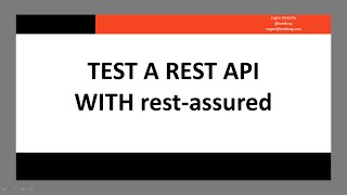 Test a REST API with rest-assured