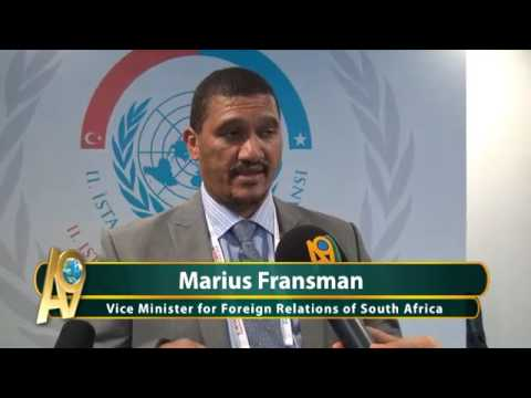 Vice Minister for Foreign Relations of South Africa, Marius Fransman...