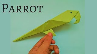How to Make Origami Parrot - Origami Parrot Tutorial for Beginners - Origami Parrot Easy and Simple