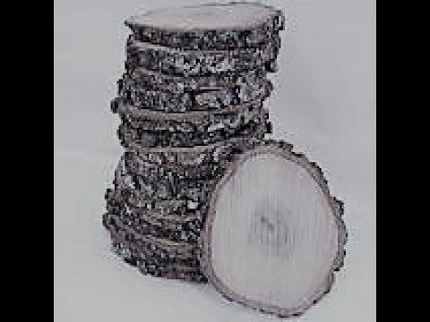 Wedding DIY: Log slices/Wedding centerpieces and how to make them