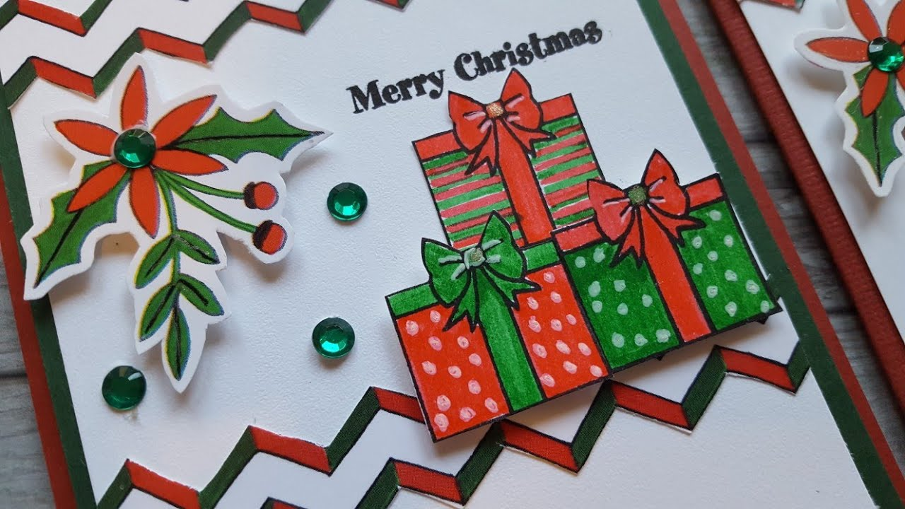 Christmas Gift Card Idea | Season\'s Greetings Stamp Set - YouTube