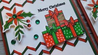 Christmas Gifts Card Idea | Season's Greetings Stamp Set