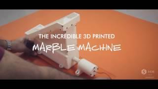 The 3D Printed Marble Machine on Indie : The Desktop 3D Printer
