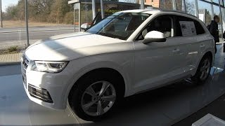 AUDI Q5 !! SPORT !! NEW MODEL 2017 !! WHITE AND GRAY COLOR !! WALKAROUND AND INTERIOR !!