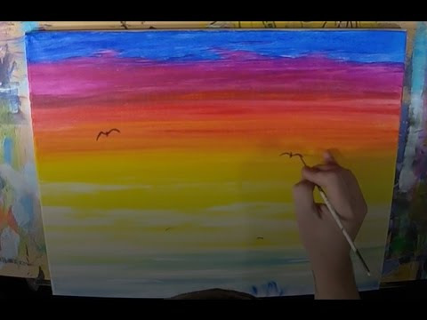 How To Paint A Sunset Simple And Quick
