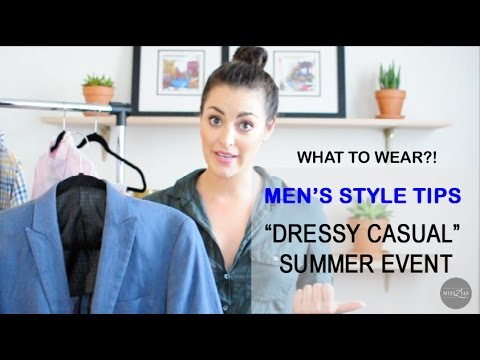 """what-to-wear-to-a-""""dressy-casual""""-summer-event-men's"""