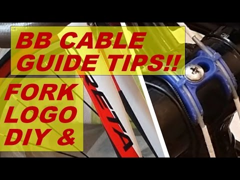 aliexpress carbon fork logo sticker DIY tips, shimano BB cable guide life extension! lube, updates..