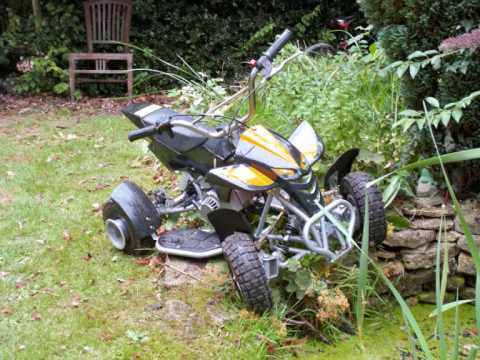 50cc mini moto quad bike youtube. Black Bedroom Furniture Sets. Home Design Ideas