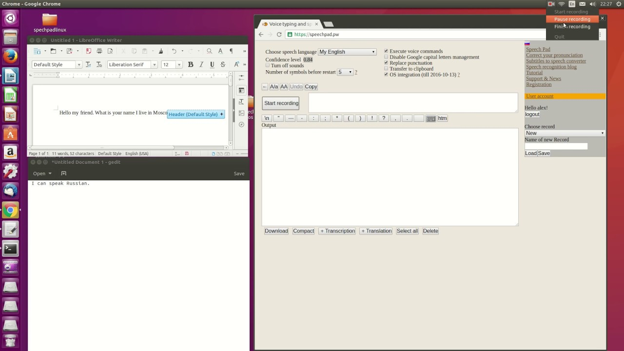 Linux integration – direct voice input in Ubuntu and others
