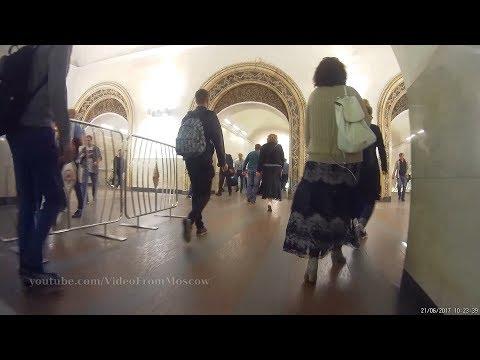 Переход метро Белорусская радиальная/кольцевая 21.06.2017