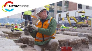 Metro Tunnel - Archaeology process