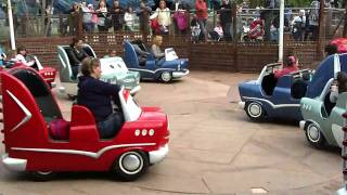cars race rally at walt disney studios paris off ride