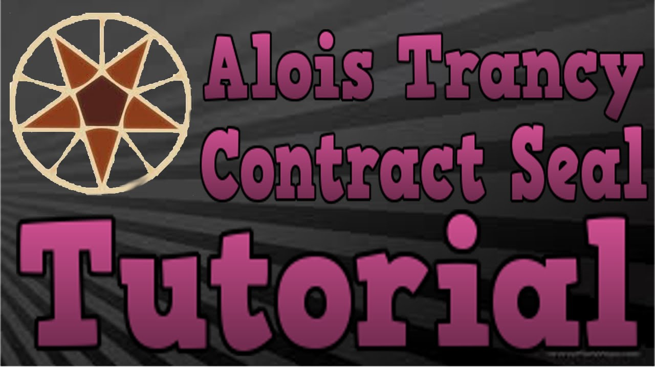 Alois trancy contract seal tutorial youtube biocorpaavc Image collections