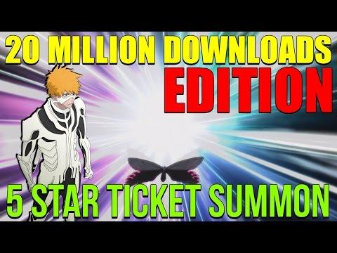 Bleach Brave Souls 5 star Ticket 20 Million Downloads Edition
