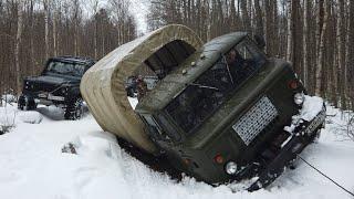 Грузовик по льду, мы думали обойдётся)