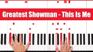 This Is Me The Greatest Showman Piano Tutorial - CHORDS
