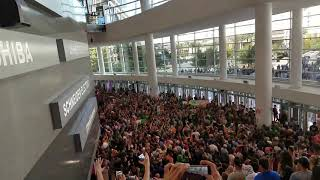Conor McGregor fans take over T-Mobile Arena lobby