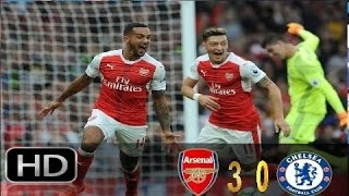 Mesut ozil goal - arsenal vs chelsea 3 - 0 all goals & highlights( premier league) 9/24/2016