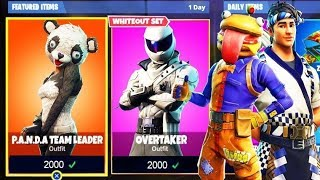 "FREE ""Panda Team Leader"" SKIN UPDATE! - GIFTING SKIN ITEM SHOP PS4 GAMEPLAY (FORTNITE BATTLE ROYALE)"