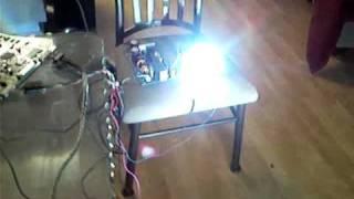 DIY projector test setup with LIFI 4000 unit