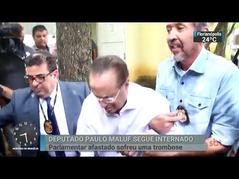 Maluf continua internado em hospital da capital paulista | SBT Brasil (07/04/18)