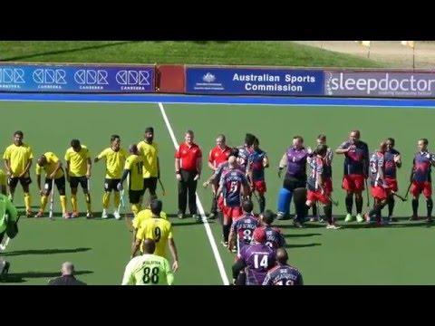 Malaysia 2 USA 1 Men over 40 world cup hockey 2016 Canberra, Australia