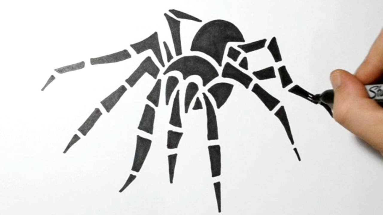 Uncategorized How To Draw Spiders how to draw a tribal spider youtube spider