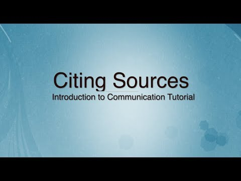 Citing Sources in a Speech