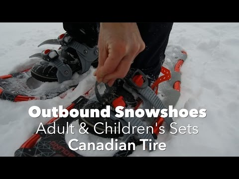 Testing Out Outbound Snowshoes From Canadian Tire