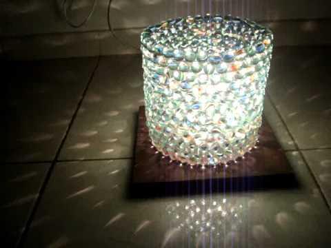 Luminária de bola de gude passo a passo